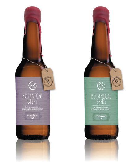 Botantical Beers Logo beer design packaging by Salted Gecko