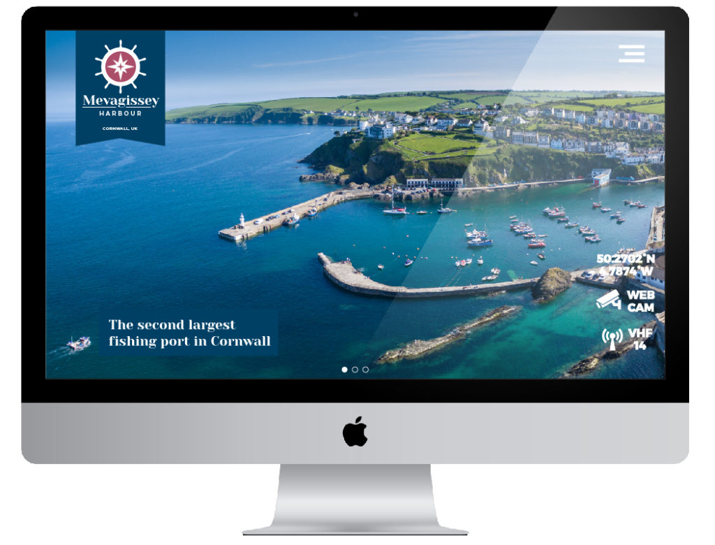 Mevagissey Harbour website design by Salty Gecko