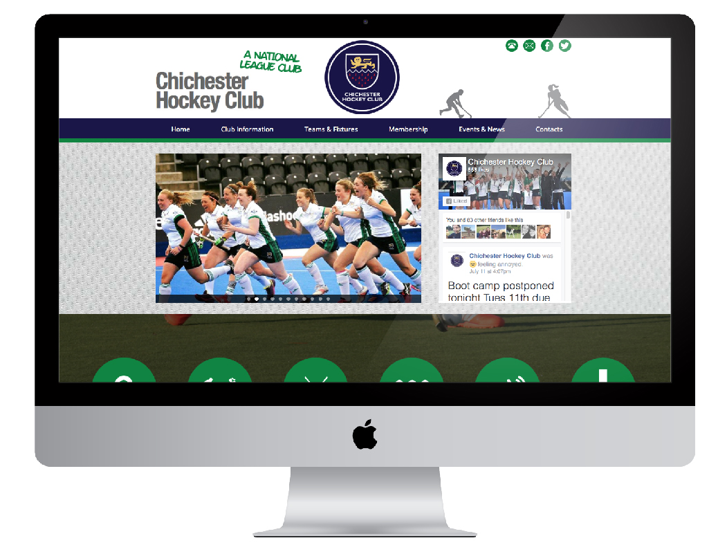 Chichester hockey club website design