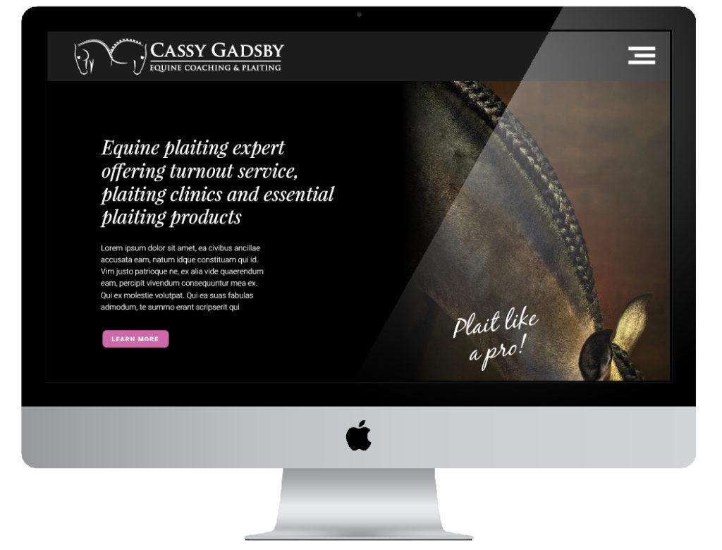 Cassy Gadsby website design by Salty Gecko